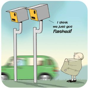 Speed Camera Funny Table Coaster